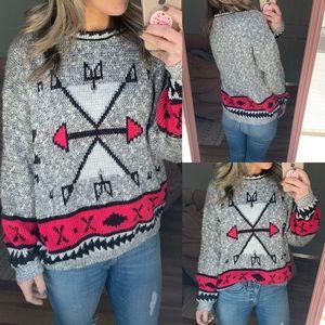 Vtg Adele Aztec western geometric sweater m